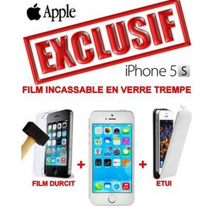 SMARTPHONE PACK ANTICHOC COMPLET - APPLE IPHONE 5S SILVER