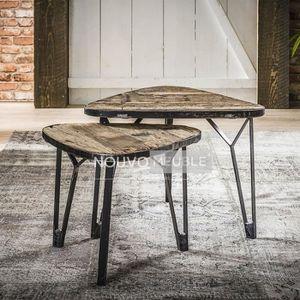 TABLE BASSE Table de salon en bois et métal NEVADA