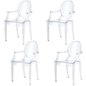 CHAISE Damiware Lot De 4 Plexiglas Acrylique Ghost Chair