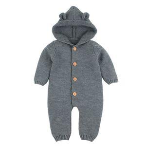 6f8a724f9cf66 MANTEAU - CABAN Nouveau-né bébé garçon fille tricoté hiver barbote ...