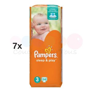 COUCHE 406 COUCHES PAMPERS SLEEP&PLAY (SIMPLY DRY) taille