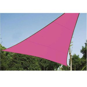 VOILE D'OMBRAGE Voile d'ombrage triangle 5m rose