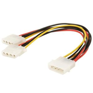 CÂBLE D'ALIMENTATION Câble d'alimentation interne Molex Mâle - 2x Molex