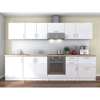 obi cuisine complète l 3 m - laqué blanc - achat / vente cuisine
