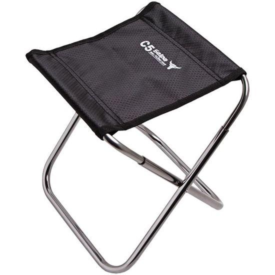 Pliant Tabouret Lger Aluminium Portable Chaise Pliante Camping Plein Air Pche Pique Niques