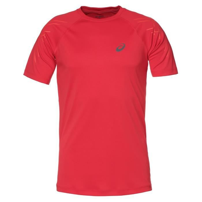 ASICS Stripe Tee shirt manches courtes Homme - Rouge