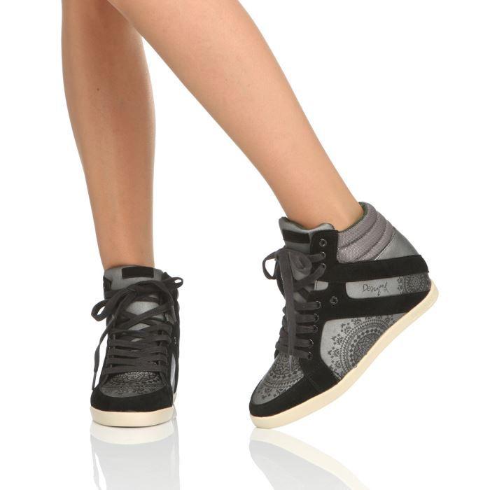 plus récent 73080 e0b96 DESIGUAL Baskets Star Femme Gris et noir - Achat / Vente ...