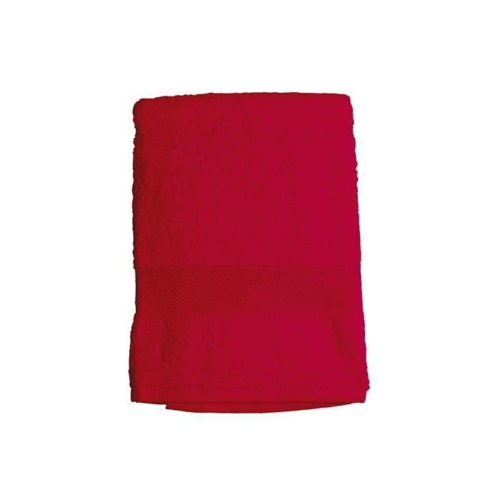 Drap de bain rouge - En 100% coton - Epais de 550g/m² - Dimension : 70x130cmSERVIETTE DE BAIN - DRAP DE BAIN