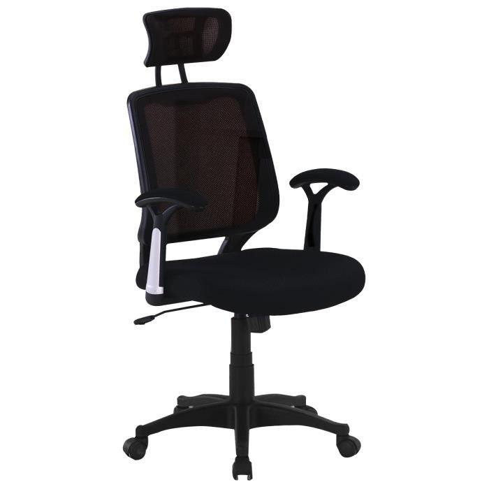 accessoire chaise de bureau noir stanford