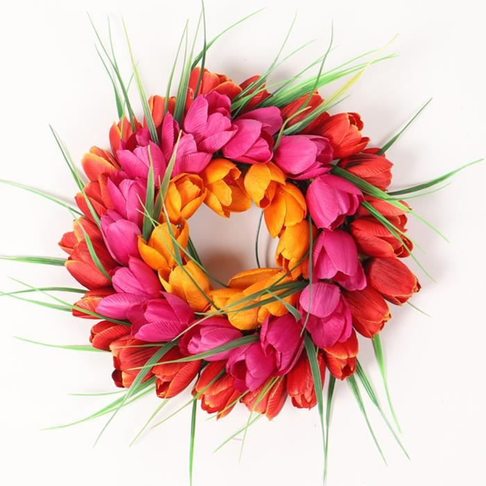 30cm Tulipes guirlande fleur artificielle mariage, Decoration mariage  champetre exterieur, Decoration murale salon chambre adulte