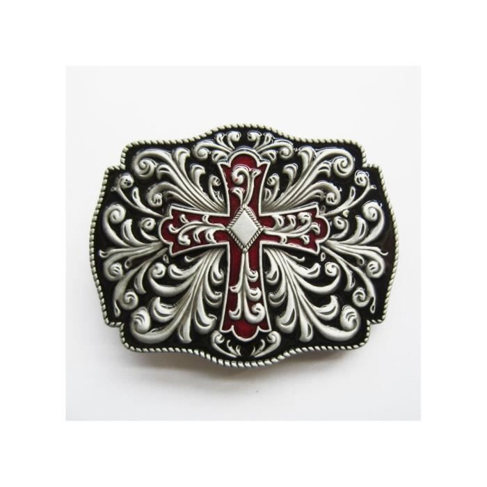 3eeb66b49d8 Boucle de ceinture celtic et croix celte rouge homme femme - Achat ...