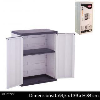 armoire de rangement basse abs armoire modulai - achat / vente