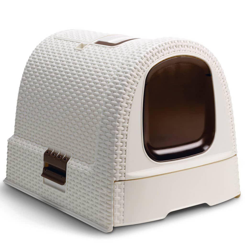 2bc09daca46e1e CURVER Maison de toilette - Blanc ivoire - Pour chat - Achat   Vente ...