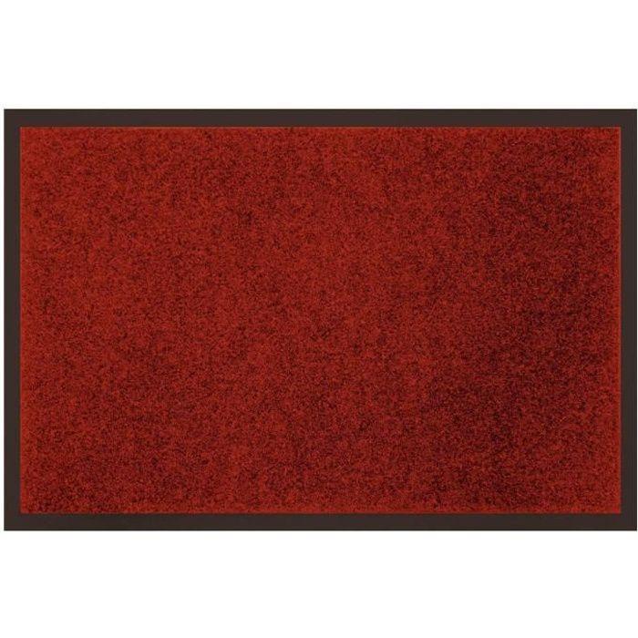 Tapis uni anti poussi re 80x120 cm rouge achat vente for Tapis de cuisine 80 x 120