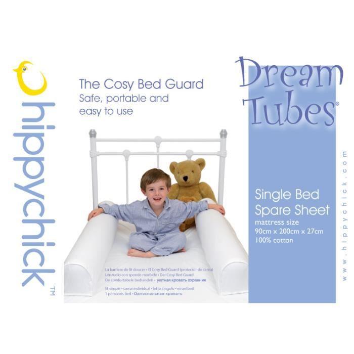 drap de rechange barriere de lit gonflable blanc blanc. Black Bedroom Furniture Sets. Home Design Ideas