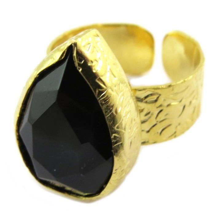 Bague Créateur Cléopatra noir doré[P4001]