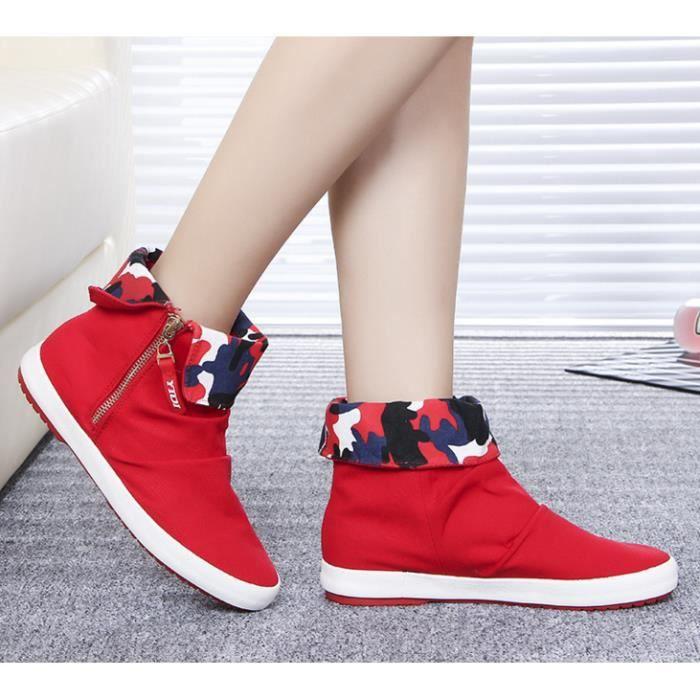 Haut-dessus de chaussures de toile de femmes bo... lD5sT