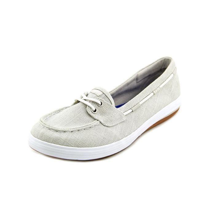 d7e4aca5465 Keds Glimmer Toile Chaussure de Bateau Argenté - Achat   Vente ...