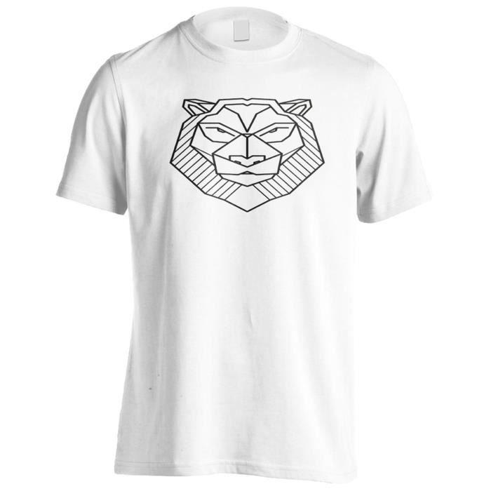 T Shirt Nouveau Tatouage Geometrique Du Lion Hommes T Shirt H242m