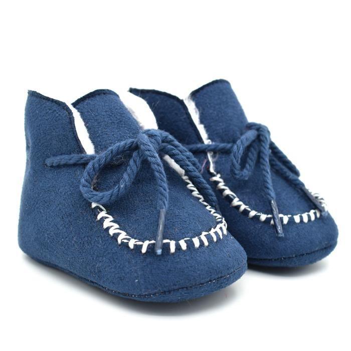 Gris-Bébé Bottes de neige Tendance Loisirs Gland Automne et hiver Fond mou Bébé Chaussures en coton bébé OhWvBG