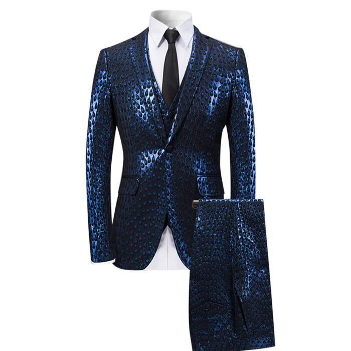 Costume Homme Mariage 3 pieces Slim fit pour jeunesse mode design ... 25d0619ed329