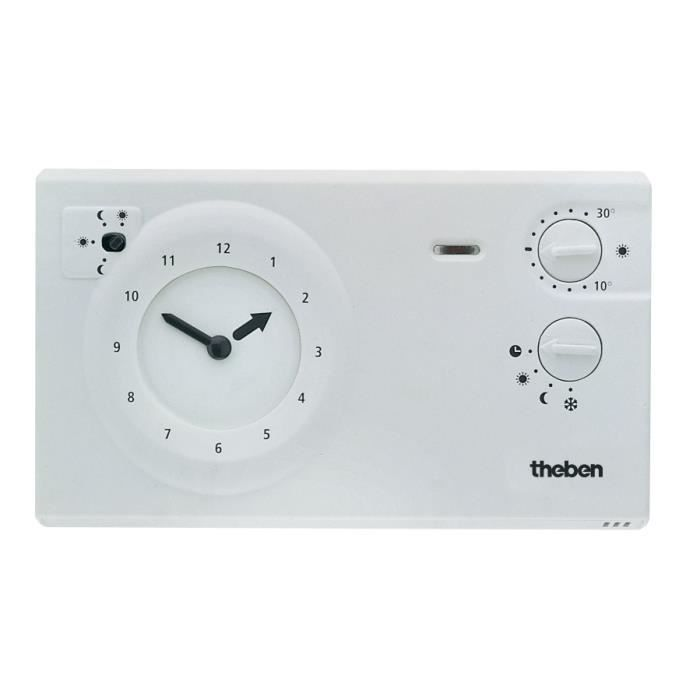 theben ram 722 thermostat programmable blanc import allemagne achat vente thermostat. Black Bedroom Furniture Sets. Home Design Ideas
