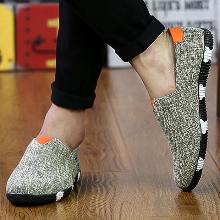 chaussures multisport Homme Marque Sport Outdoor de haute qualité Slip respirant de printemps kaki taille6.5 SDkS46s