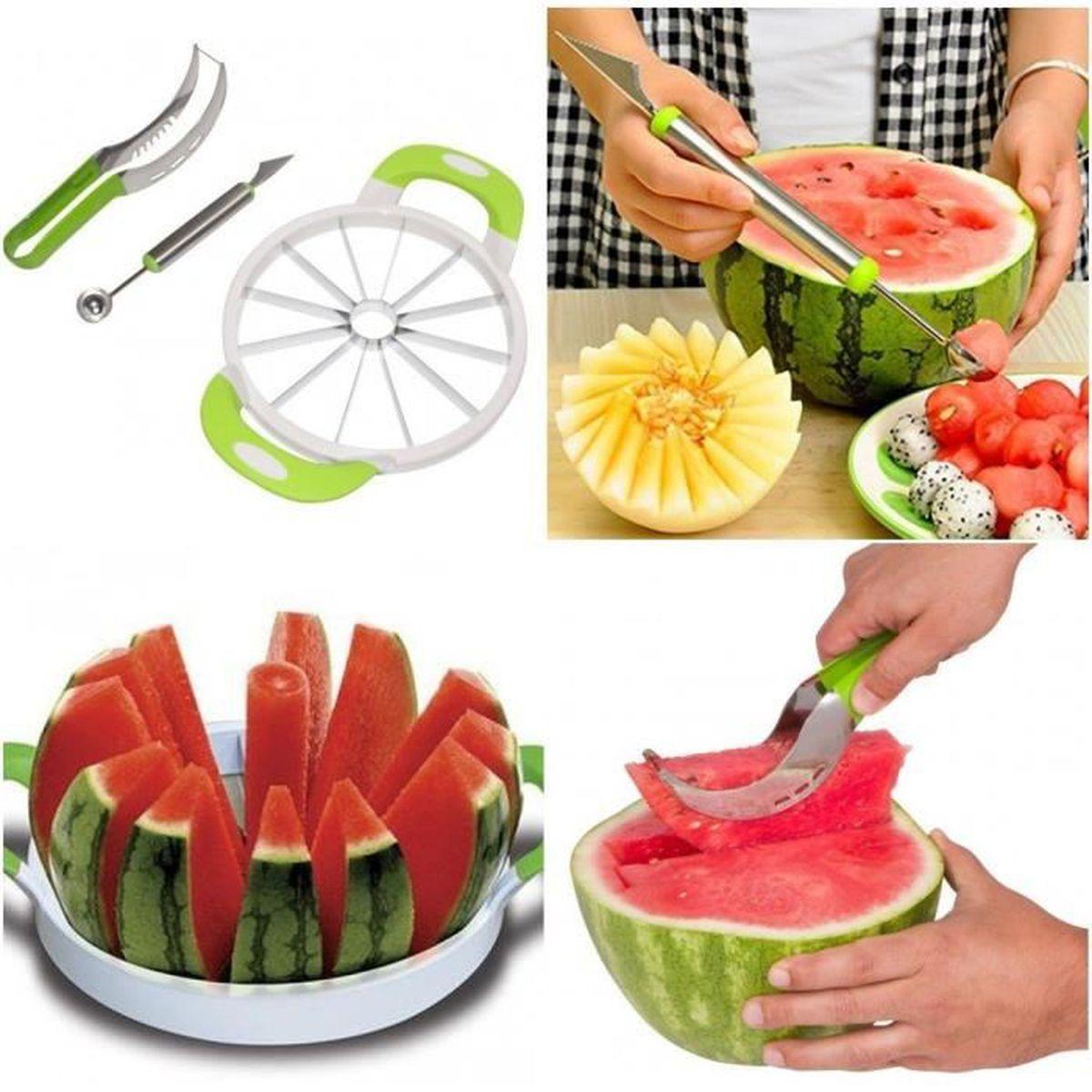 d coupe melon coupe fruit d coupe outil pour couper la melon d 39 eau past ques achat vente. Black Bedroom Furniture Sets. Home Design Ideas