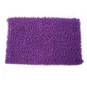 FRANDIS Tapis de bain 100% coton - 50  x 80 cm - Violet