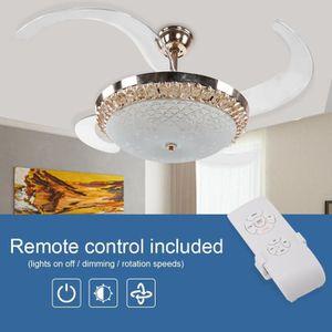 VENTILATEUR DE PLAFOND HENGL 42 po Ventilateur de plafond à LED avec lumi