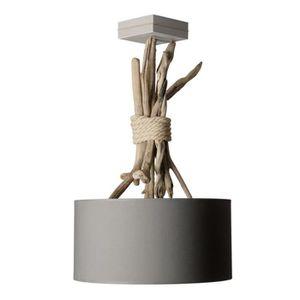 suspension luminaire en bois flott gris achat vente suspension luminaire en boi cdiscount. Black Bedroom Furniture Sets. Home Design Ideas