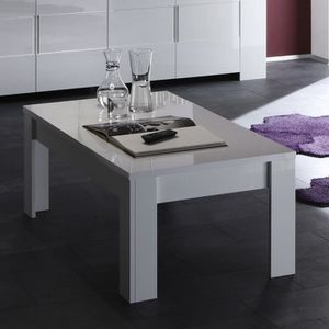TABLE BASSE Table basse design blanc laqué LIMA
