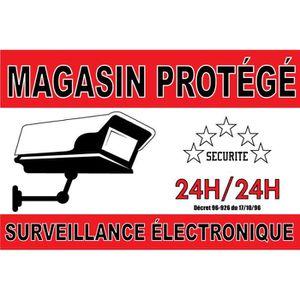 PANNEAU EXTÉRIEUR Panneau Magasin Protégé Surveillance Électronique