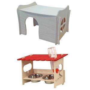 ACCESSOIRE ABRI ANIMAL Maison de rongeurs Sparpack RICKY + station d'alim