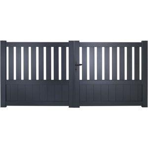 portail aluminium achat vente portail aluminium pas cher cdiscount. Black Bedroom Furniture Sets. Home Design Ideas