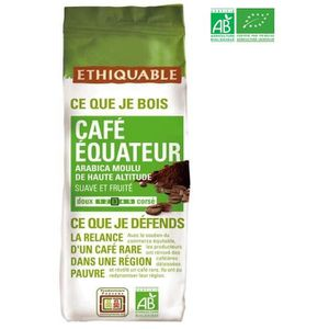 CAFÉ ETHIQUABLE Café moulu Arabica Equateur Bio - 250 g