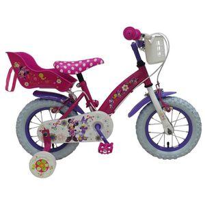 VÉLO ENFANT Disney Vélo Enfants Fille 12 Pouces Minnie Mouse F