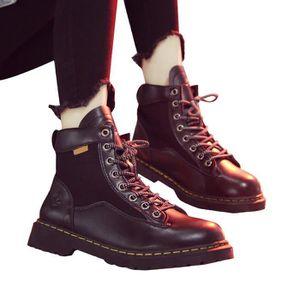 9fc9b80911ba BOTTE Femmes bout rond Chaussures à lacets en cuir Moyen