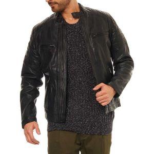 15b92cfc0da Veste en cuir pepe jeans - Achat   Vente pas cher