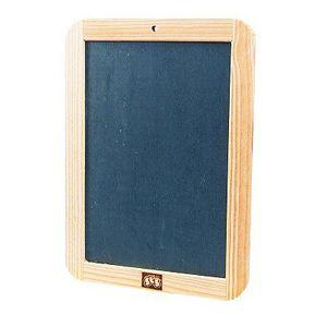 ARDOISE ENFANT Ardoise avec cadre en bois - 18 x 25 cm