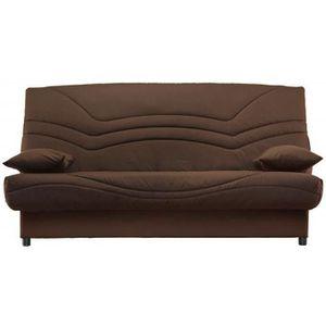 banquette clic clac uni 130x190 marron matelas mousse sofaflex 13cm sally achat vente clic. Black Bedroom Furniture Sets. Home Design Ideas