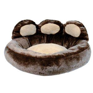 CORBEILLE - COUSSIN TRIXIE Lit Donatello 60 × 50 cm brun/beige pour ch