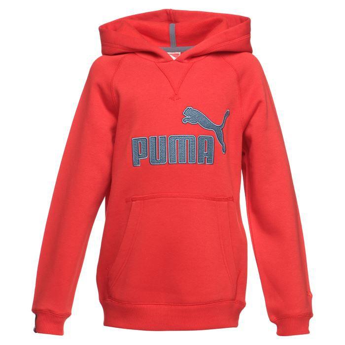 50d45c20356b6 PUMA Sweat Capuche Enfant Garçon Rouge - Achat   Vente sweatshirt ...