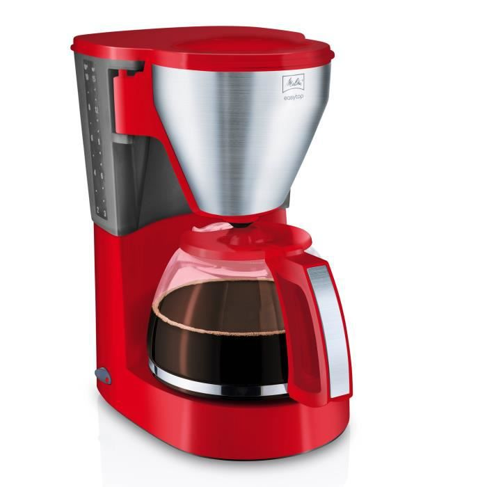 MELITTA 1010-16 Cafetière filtre Easy Top - Rouge Inox