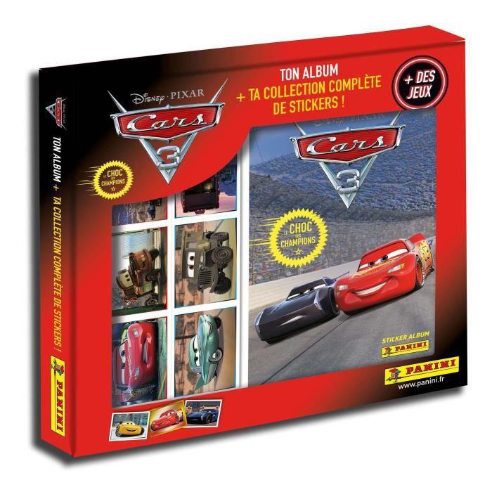 PANINI CARS 3 Coffret collection complète - Album + Stickers + Jeux