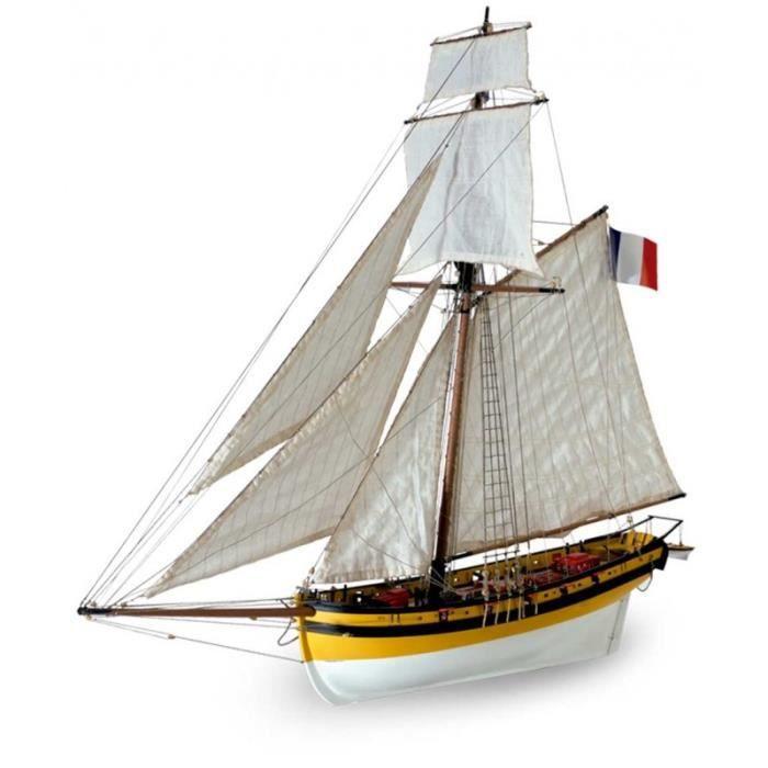 maquette bateau bois a construire achat vente jeux et jouets pas chers. Black Bedroom Furniture Sets. Home Design Ideas
