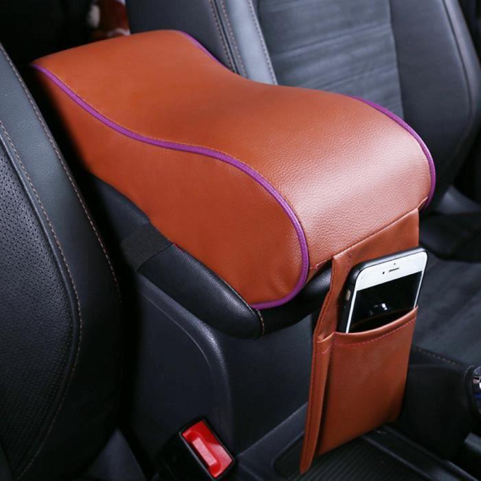 1PC Durable voiture en cuir SUV Center Box Accoudoir Console Soft Pad Housse de coussin BW@LP-627