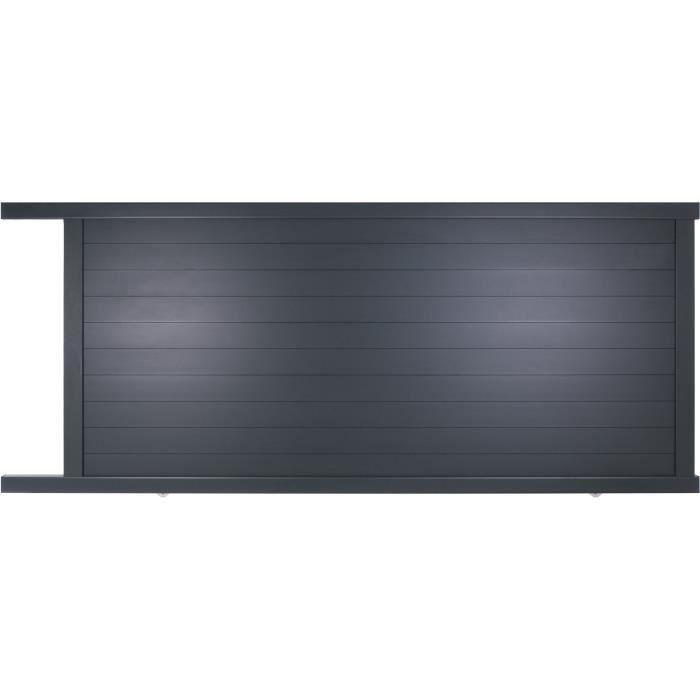 portail coulissant en aluminium yel gris 3 5m manuel autour du portail achat vente portail. Black Bedroom Furniture Sets. Home Design Ideas
