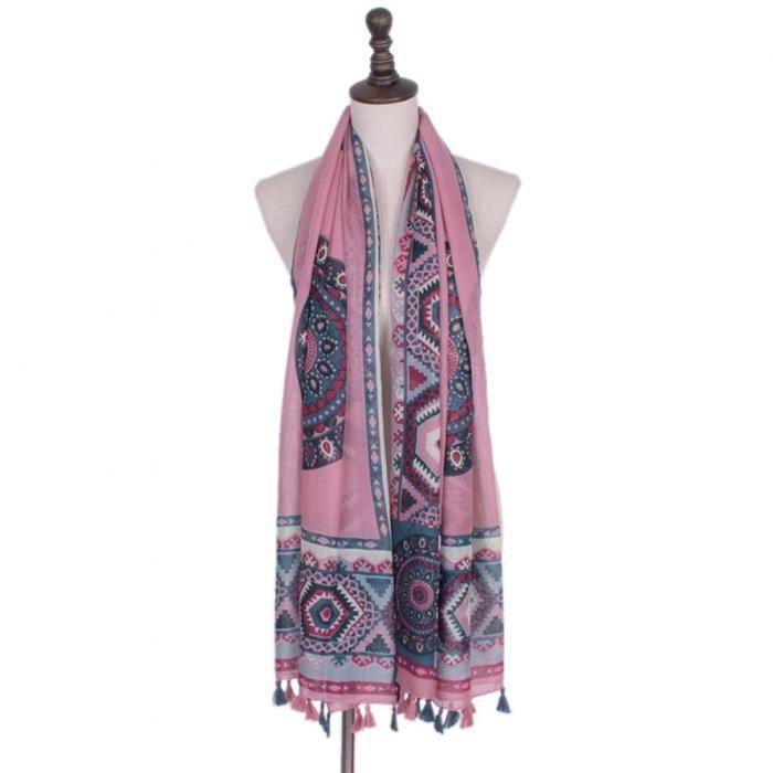 925aaa6f5d3 Foulards - écharpe - Géométrique Femmes Imprimé Collier pour FemmesLuxe  Marque Châles FemmeFemmes Bandana Desigual Hijabs - classe
