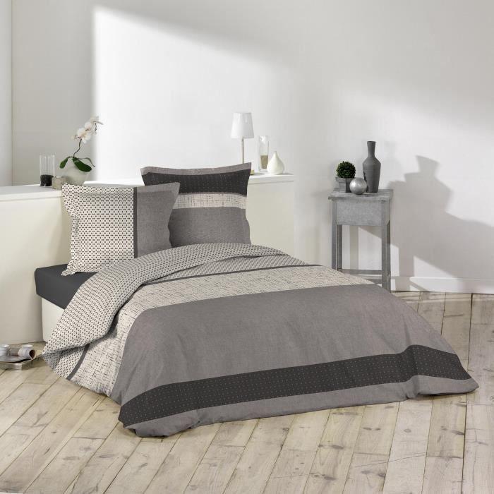 parure de couette 100 coton 57 fils 260x240 lorenzo. Black Bedroom Furniture Sets. Home Design Ideas